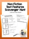 Non-Fiction Text Features;  *EDITABLE* Scavenger Hunt