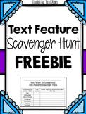 Non-Fiction Text Feature Scavenger Hunt FREEBIE