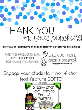 Non-Fiction Text Feature Scavenger Hunt FREEBIE
