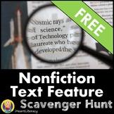 Free Nonfiction Text Features Scavenger Hunt