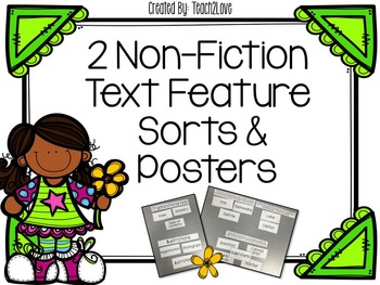 Non-Fiction Text Feature Sorts & Posters