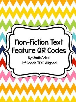 Non-Fiction Text Feature Task Cards & QR Codes