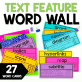 Non-Fiction Text Feature Word Wall Words