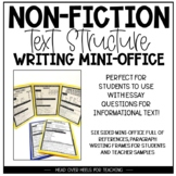 Non-Fiction {Text Structure} Writing Mini-Office