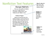 Non Fiction Text Feature through Georgia Habitats