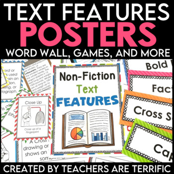 Non Fiction Text Features Posters