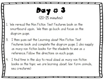 Non Fiction Text Features - 2 Weeks Lessons