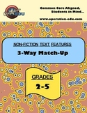 Non-Fiction Text Features 3-Way Match Up
