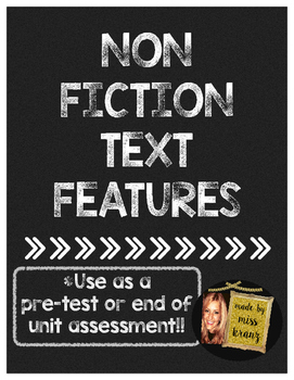 Non Fiction Text Features Assessment