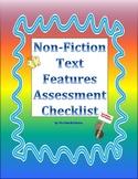 Non-Fiction Text Features Assessment Checklist