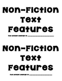 Non-Fiction Text Features Booklet - Search and Record