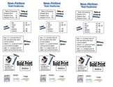 Non-Fiction Text Features Bookmark (Study Guide)