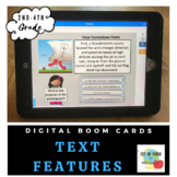 Non-Fiction Text Features-Boom Cards-Distance Learning