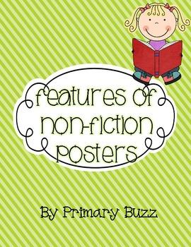 Non-Fiction Text Features Colorful Poster Set