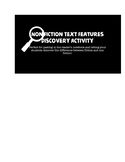 Non Fiction Text Features Discovery Activity