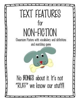 Non-Fiction Text Features - Dog Theme