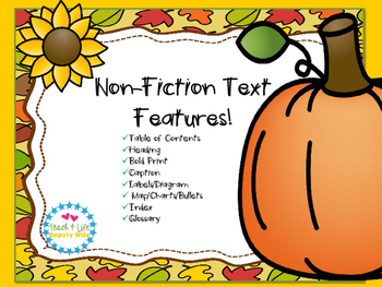 Non-Fiction Text Features First Grade