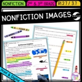NF Text Features: Images - 2nd & 3rd Grade RI.2.7 RI.3.7 - Printable & Digital