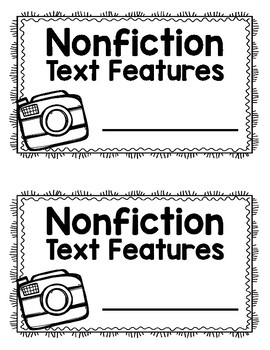 Non-Fiction Text Features Interactive Board & Student Book-