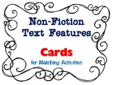 Non-Fiction Text Features Matching Cards