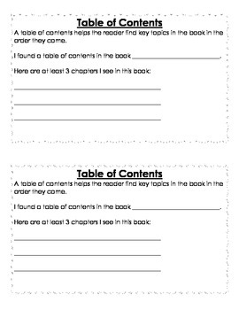 Non Fiction Text Features Notebook