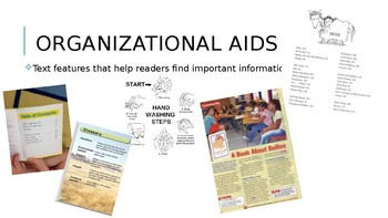 Non-Fiction Text Features Organizational Aids PowerPoint