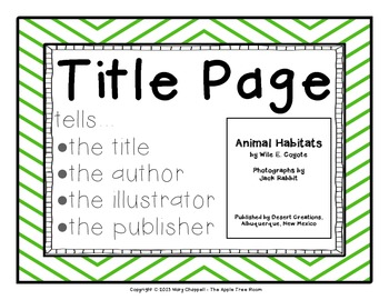 Non-Fiction Text Features Posters - Chevron Style