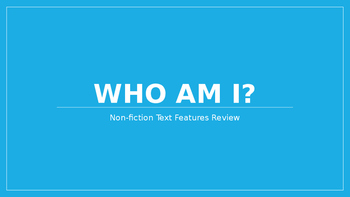Non-Fiction Text Features PowerPoint Review