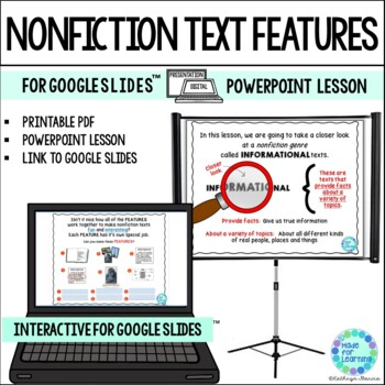 Non-Fiction Informational Text Features: Powerpoint for Cl
