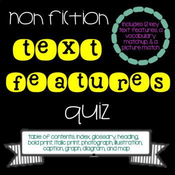 Non Fiction Text Features Quiz