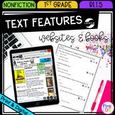Nonfiction Text Features - 1st Grade RI.1.5 - Printable & Digital