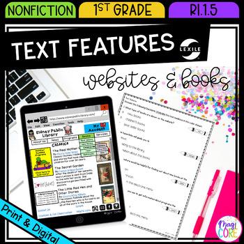 Non Fiction Text Features- RI.1.5