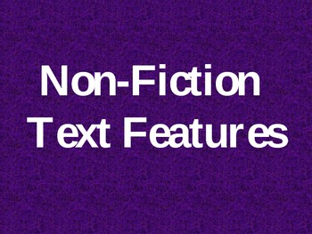 Non-Fiction Text Features Review Game