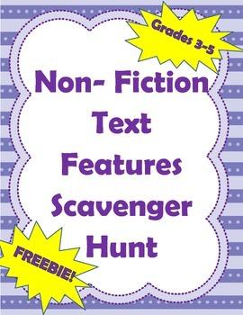 Non-Fiction Text Features Scavenger Hunt (Intermediate - G
