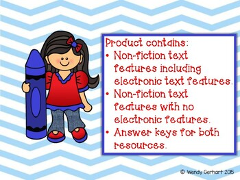 Non Fiction Text Features Scoot