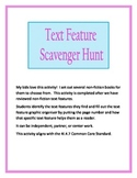 Non Fiction Text Features Search Graphic Organizer