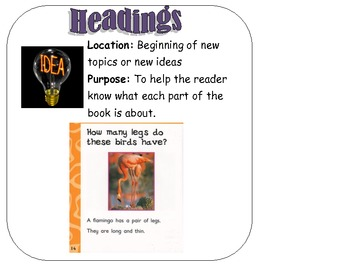 Non Fiction Text Features Signs/Posters
