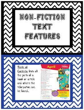 Non Fiction Text Features Student Friendly Non-Fiction Text Feature Cards