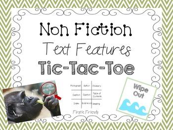 Non Fiction Text Features Tic Tac Toe/Bingo