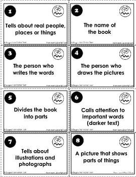 Non-Fiction Text Features Vocabulary Game - Oh Boogers!
