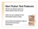 Non-Fiction Text Features Vocabulary Powerpoint