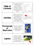 Non-Fiction Text Features Vocabulary Word Card Sort