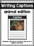 Non-Fiction Text Features:  Writing Captions (Animal Edition)