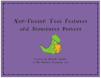 Non-Fiction Text Features and Structures Posters