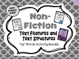 """Non-Fiction Text Features and Text Structures """"Up""""-Words Activity BUNDLE"""