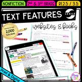 Nonfiction Text Features - 2nd Grade RI.2.5 & 3rd Grade RI.3.5