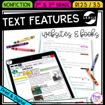Non Fiction Text Features in Websites and Books- RI.2.5 & RI.3.5