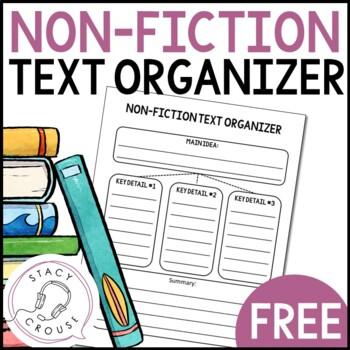 Non-Fiction Text Organizer for Main Idea, Key Details, and Summarizing