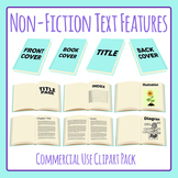 Non-Fiction Text Properties of a Book Clip Art Pack for Commercial Use