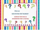 Non-Fiction Text Sources